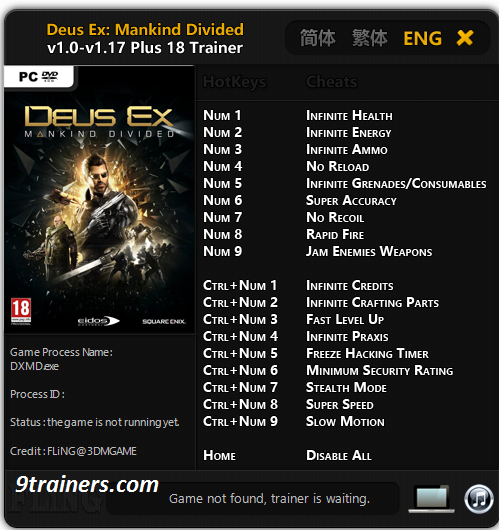 Deus Ex Mankind Divided A Criminal Past Trainer Free Download