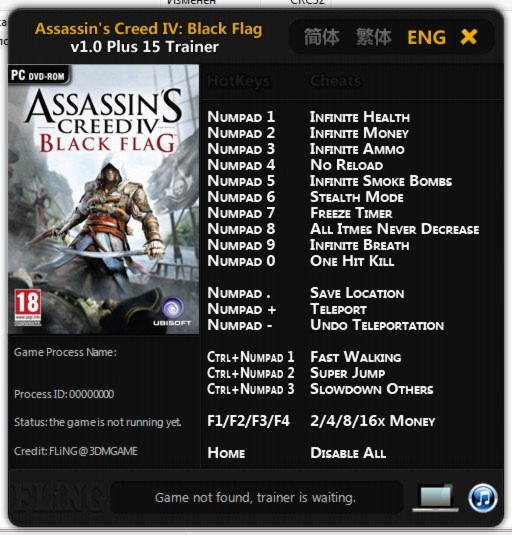 Assassins Creed IV Black Flag Trainer Free Download