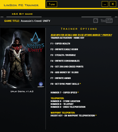 Assassins Creed Unity Trainer Free Download