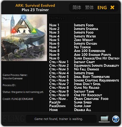 ARK Survival Evolved Trainer Free Download