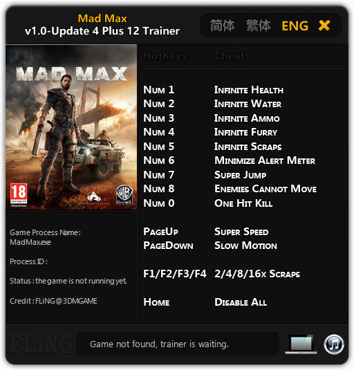 Mad Max Trainer Free Download
