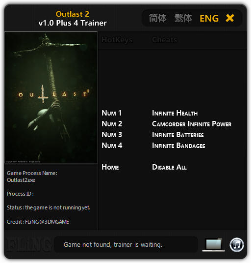 Outlast 2 Trainer Free Download