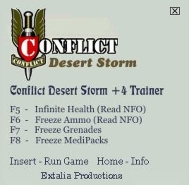 Conflict Desert Storm Trainer Free Download