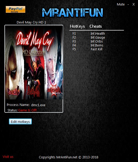 Devil May Cry 2 Trainer Free Download