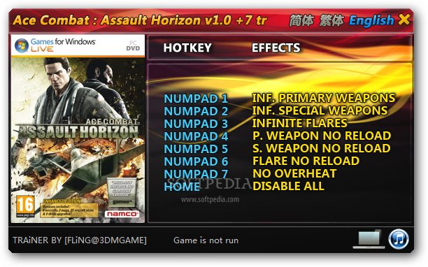 Ace Combat Assault Horizon Trainer Free Download