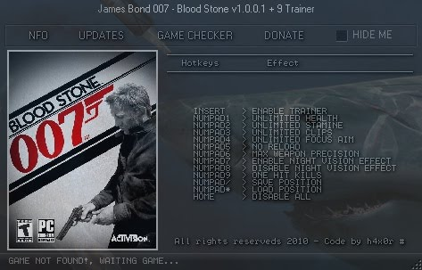 James Bond 007 Blood Stone Trainer Free Download