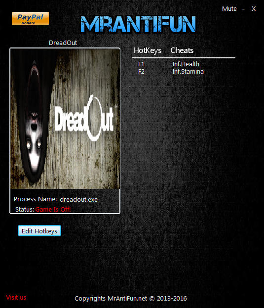 DreadOut Trainer Free Download