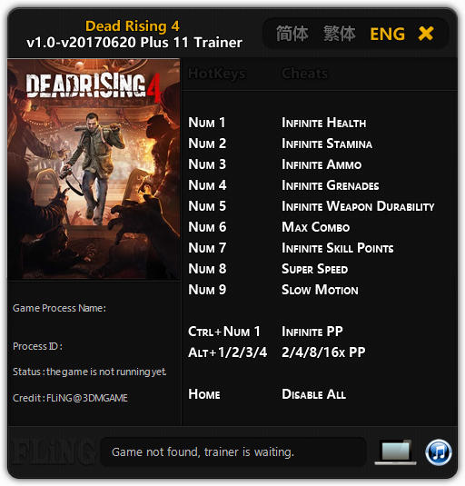 Dead Rising 4 Trainer Free Download