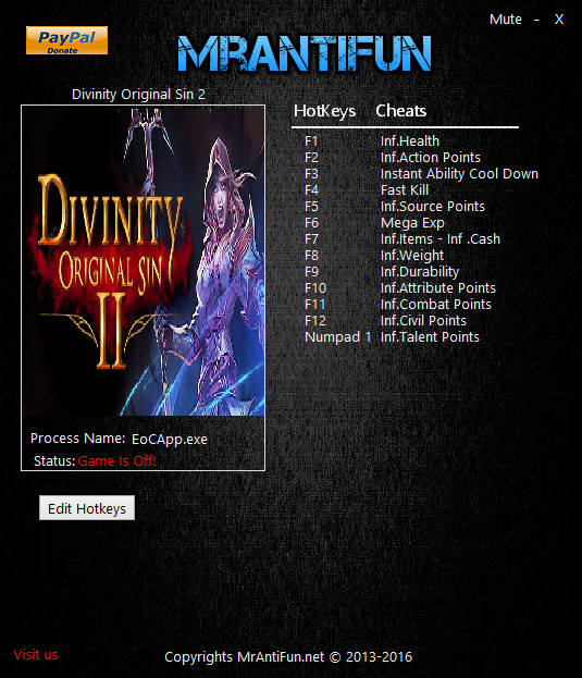 Divinity Original Sin 2 Definitive Edition Trainer