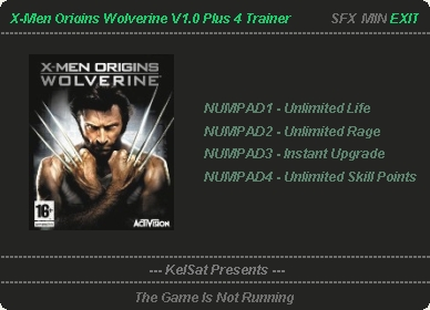 X Men Origins Wolverine Trainer Free Download
