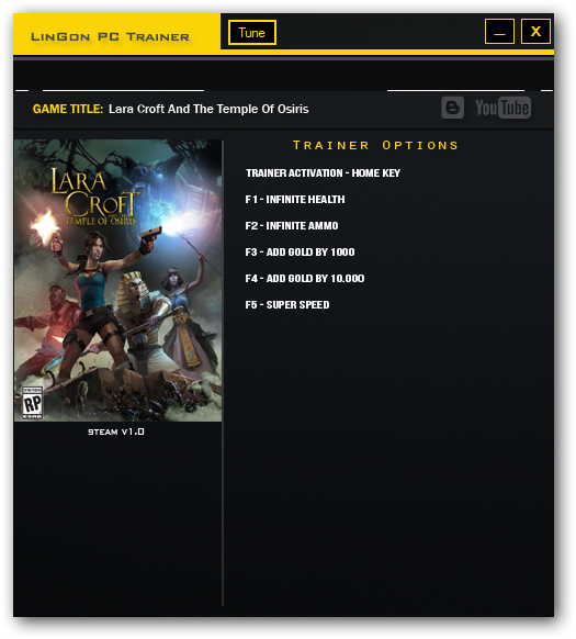 Lara Croft and the Temple of Osiris Trainer Free Download