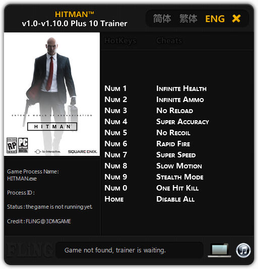 Hitman 6 Alpha Trainer Free Download