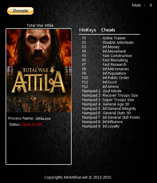Total War ATTILA Age Of Charlemagne Trainer Free Download