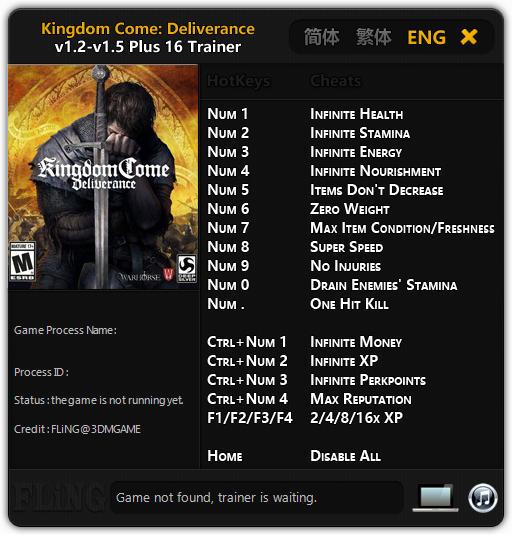 Kingdom Come Deliverance Trainer Free Download