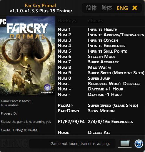 Far Cry Primal Trainer Free Download