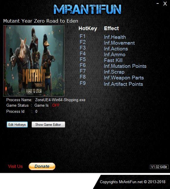 Mutant Year Zero Road To Eden Trainer Free Download