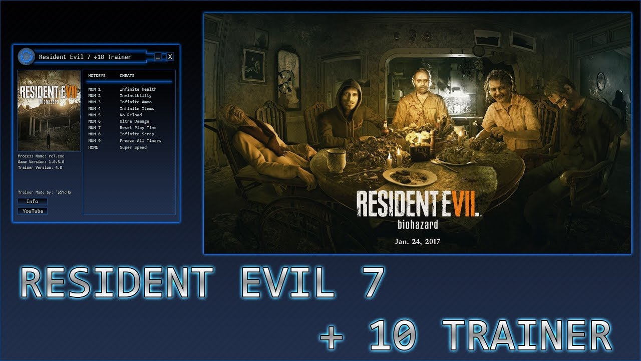 Resident Evil 7 Biohazard Gold Edition Trainer Free Download