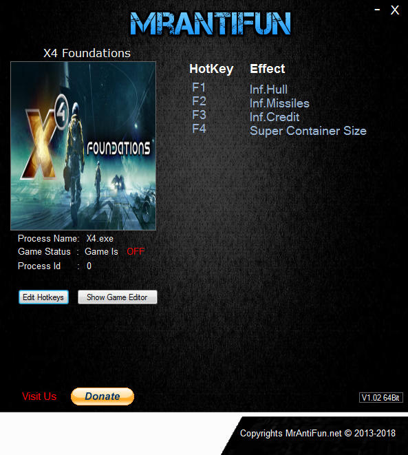 X4 Foundations Trainer Free Download