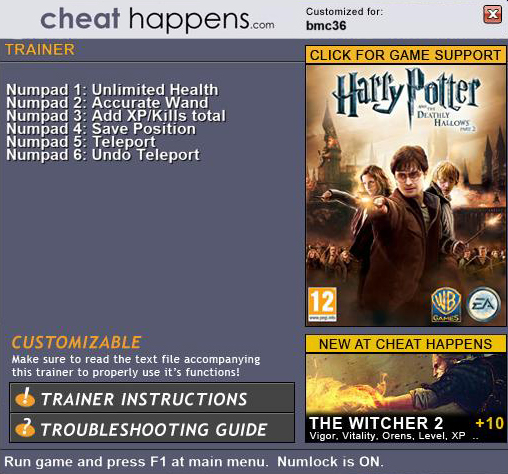 Harry Potter and the Deathly Hallows Part 2 Trainer Free Download